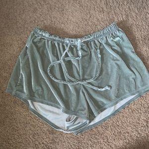 Victoria secret PINK crushed velvet sleep shorts